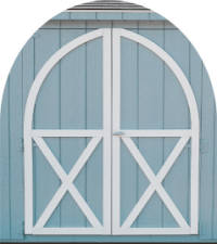 Image Of Arched Door Trim On Sheds Reading, PA - Eastern Building Products